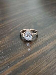 Authentic Pandora Rose Gold Tear Drop Ring size 58/8.5