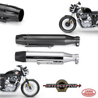 Dual Exhausts for Royal Enfield Interceptor 650, GT 650, Jawa Bikes (pack of 2)