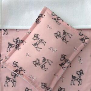 Dolls Pram Cot Bedding Set - Cute Baby Fawn Deer