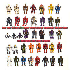 Lot of 10 Mega Bloks Halo Figure Master Cheif Spartan Grunts Brute Arbiter Elite