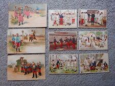 3 CARTES POSTALES Eugène Chaperon  + 6 IMAGES 1910 CHOCOLAT  INIMITABLE CASERNE