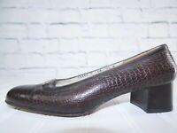 Salvatore Ferragamo Boutique Womens Brown Alligator Print Leather Loafers 7.5 B