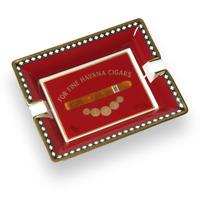 Cigar Ashtray Elie Bleu Red Porcelain Ashtray Medals Collection