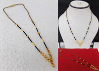 Gold Plated Ethnic Wedding Kanthi Mangalsutra Mala Indian Women Fashion Jewelry