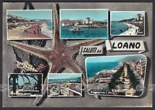 SAVONA LOANO 53 SALUTI da... VEDUTINE Cartolina FOTOGRAFICA viaggiata 1960