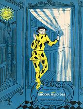 PUBLICITE ADVERTISING 024   1956   RHODIA  voilage rideaux ARLEQUIN