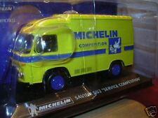 RENAULT SAVIEM SG2 SERVICE COMPETITION PNEU MICHELIN 1/43 TOLE JAUNE TIRE