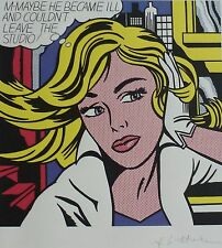 "ROY LICHTENSTEIN ""M-Maybe"" (A Girls Picture) MATTED SIGNED"