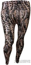 New Womens Plus Size Animal Print Wild Look Stretch Full Leggings Trousers 12-26