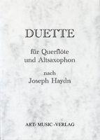DUETTE QUERFLÖTE & ALT- SAXOPHON > J. HAYDN  ( NOTEN )