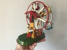 Tin Litho Windup Ferris Wheel by J Wagner Made In Germany Windup Toy FREESHIP