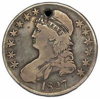 1827 50c Capped Bust Half Dollar - Fine Details - SKU-X537