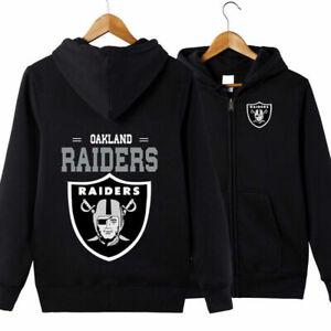 Oakland Raiders Fans Hoodie Classic  Hooded Sweatshirt Jacket Coat Top Tops