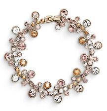 GIVENCHY Silk Multi Tonal Crystal Cluster Gold-Tone Flex Bracelet $88