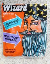 VINTAGE 1982 HALLOWEEN BEN COOPER  WIZARD MOUSTACHE AND BEARD IN ORG PACKAGING