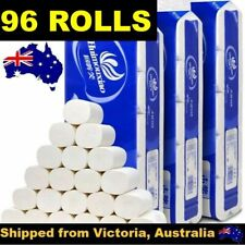 96 ROLLS TOILET PAPER SOFT & STRONG HIGH QUALITY BULK TISSUE 4 PLY AU STOCK