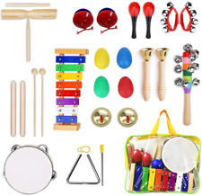 Percussion Musical Instruments Set for Kids, ULIFEME 25 Pcs Rhythm Band Toys Toy