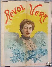 CHOUBRAC REVOL VERA AFFICHE ANCIENNE CIRCA 1890-1900