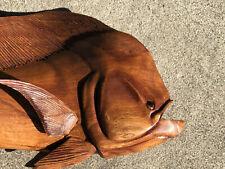 New ListingMahi Mahi Wall Mount Hand Carved Wood Art Home Decor Fish Tiki Bar