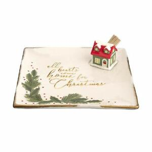 Grasslands Road All Hearts Come Home Ceramic Tray with Toothpick Holder