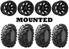 Kit 4 Kenda Bearclaw K299 Tires 26x9-12/26x11-12 on Raceline Scorpion Black POL