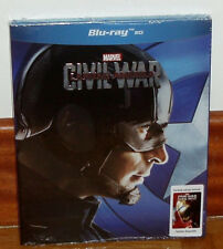 CAPITAN AMERICA-CIVIL WAR-BANDO CAPITAN-SLIPCOVER-BLU-RAY-NUEVO-NEW-PRECINTADO