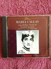 MARIA CALLAS GALA CD. BELLINI, DONIZETTI, VERDI & SPONTINI 1955-60 RECORDINGS.