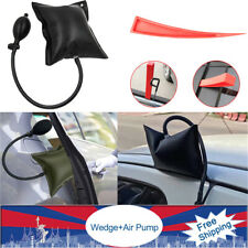 Car Auto Door Out Emergency Open Inflatable Hand Tools Air Pump+Plastic Wedge US