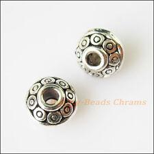 80pcs Antique Copper Color Flower Design Spacer Beads h1830