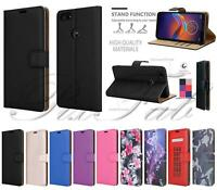 For Motorola Moto E6 Play Magnetic Flip Leather Wallet Phone Case + Screen Guard
