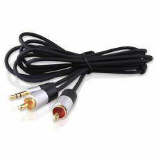 6 Feet 3.5mm Male to 2 RCA Male Stereo Audio Cable 6ft Phono Aux Cord Y Splitter