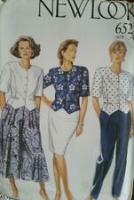 **UNCUT**Vintage Sewing Pattern**Ladies Blouse, Skirt, Culottes & Trousers**
