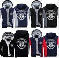 New Winter HOGWARTS Harry Potter Cosplay Jacket Sweatshirts Hoodie Zipper Coat