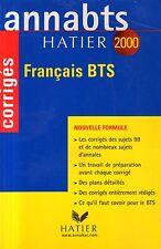 ANNABTS HATIER 2000 / FRANCAIS BTS CORRIGES / Ref 50209