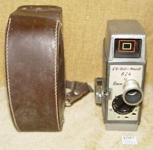 VINTAGE GB BELL & HOWELL 624 8mm CINE CAMERA WITH ORIGINAL CASE INDIE FILM MOVIE