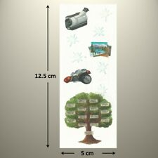 Creative Memories Studio Sticker - FAMILY TREE, VIDEO CAMERA, FLASH, PHOTOS