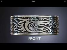 Nordic Viking Dragon Rune Ring Size U