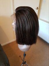 12inche 100% Brazilian human hair bob wig natural colour. 4x4front closure