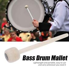 1pcs Bass Drum Mallet Wool Felt Head Drumstick Percussion Instrument Accessories