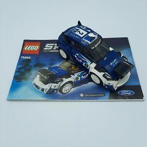 LEGO 75885 Speed Champions FORD FIESTA M-Sport WRC & Manual - Missing Figure
