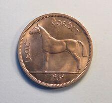 Ireland 1/2 Crown 1966 Large Unc World Coin Horse Animal Irish Harp KM16a Eire