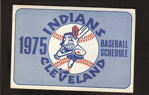 Cleveland Indians--1975 Pocket Schedule--Forest City