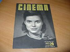 RIVISTA CINEMA NUOVA SERIE N.29 DICEMBRE 1949 DOROTHY MCGUIRE JANE RUSSELL