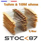 10 à 100pcs résistance 1/4w (0,25w ) au choix 1  à 100k ohms  - carbon resistor