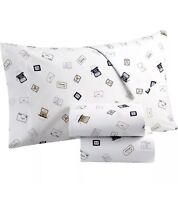 Martha Stewart Queen Sheet Set Collection Whimsical 100% Cotton Pen Pal Mail NEW