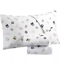 Martha Stewart King Sheet Set Collection Whim 100% Cotton Mail Pen Pal NEW
