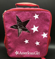 """2016 American Girl Doll 14""""Pink Backpack Travel Carrier Carrying Case Backpack"""