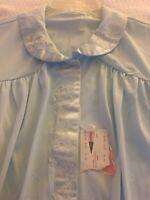 Shadowline Blue Nylon Lightweigh  2pc Pajama Sleep Set Size 40 Large Vintage New