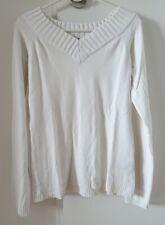 Damen Pullover, weiß, Amisu New Yorker, Größe S, gebraucht