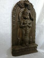 Hanuman Temple Wall Panel Statue Monkey God Sculpture Hindu God Vintage Figurine